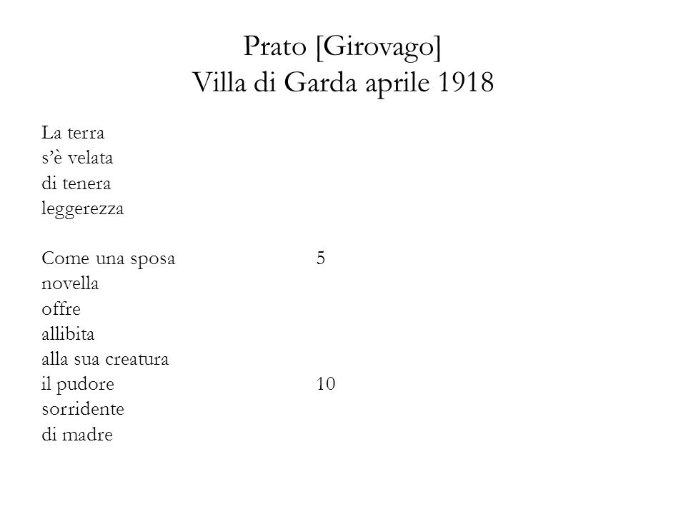 Prato [Girovago] Villa di Garda aprile 1918
